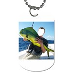 Green Tropical Fishier - Dog Tag (Two Sides)
