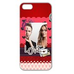 love - Apple Seamless iPhone 5 Case (Clear)