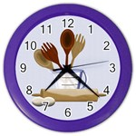 Kitchen Clock Blue - Color Wall Clock