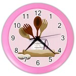 Kitchen Clock Pink - Color Wall Clock