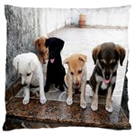 Puppy - Large Flano Cushion Case (Two Sides)