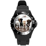 Wrist Watch Puppy  - Round Plastic Sport Watch (L)
