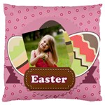 easter - Large Flano Cushion Case (One Side)