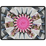 Pretty Pin Wheel Double Fleece Blanket (Large) - Double Sided Fleece Blanket (Large)
