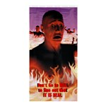 Don t Go To Hell - Shower Curtain 36  x 72  (Stall)