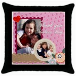 mother day - Throw Pillow Case (Black)