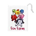 Fun Farm Large Drawstring Bag - Drawstring Pouch (Large)