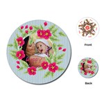 flower kids - Playing Cards Single Design (Round)