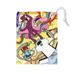 Superjail Large Dice Bag - Drawstring Pouch (Large)
