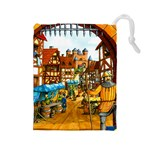 Carcassonne Castle - Drawstring Pouch (Large)