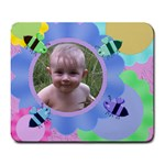 Bees and Flowers Large Mousepad