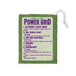 Power Grid Bags (M) - Purple - Drawstring Pouch (Medium)