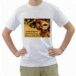 mardi gras t-shirt with ports on back - Men s T-Shirt (White) (Two Sided)