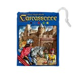 Carcassonne Tile Drawing Bag with Score Tracker LARGE - Drawstring Pouch (Large)