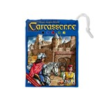 Carcassonne Tile Drawing Bag with Score Tracker MEDIUM - Drawstring Pouch (Medium)