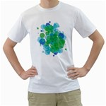 Abstract Two-Sided (Men) - Men s T-Shirt (White) (Two Sided)