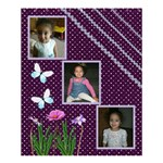 purple dot  curtain - Shower Curtain 60  x 72  (Medium)