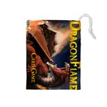 dragon flame - Drawstring Pouch (Medium)