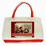 school - Classic Tote Bag (Red)