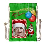 Santa Draw String Bag Large - Drawstring Bag (Large)