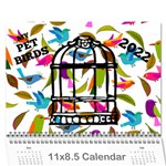 Pet Bird Calendar, 2019 - Wall Calendar 11  x 8.5  (12-Months)