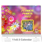 Flower Power 2019 - Wall Calendar 11  x 8.5  (12-Months)