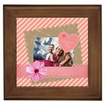 love - Framed Tile