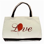 Red Love Balloon Valentine - Basic Tote Bag