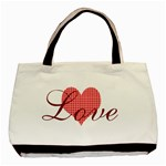 Red Love Patterned Heart Valentine - Basic Tote Bag