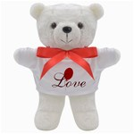 Bright Red Balloon Love Teddy Bear