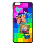 Rainbow Stitch - Apple iPhone 6 Plus/6S Plus Black Enamel Case