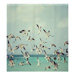 SEAGULLS :  Shower Curtain Template Preset formatted for Product: Shower Curtain - Shower Curtain 66  x 72  (Large)