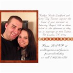 wedding invitations - 5  x 7  Photo Cards