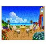 PATIO SEASIDE HOUSE PUZZLE  :   Puzzle - Jigsaw Puzzle (Rectangular)