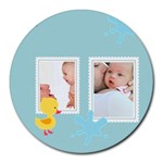 baby - Collage Round Mousepad