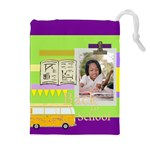 back to school - Drawstring Pouch (XL)