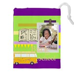 back to school - Drawstring Pouch (2XL)