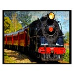 Red Train formatted Template into Puzzle - Jigsaw Puzzle (Rectangular)