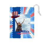 usa - Drawstring Pouch (Large)