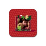 xmas - Rubber Square Coaster (4 pack)