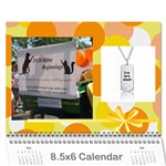 PAWSitive Beginnings Calendar  - Wall Calendar 8.5  x 6