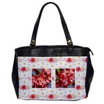 1side Floral Oversize Handbag - Oversize Office Handbag