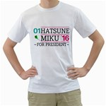 Hatsune Miku for President  16 - Men s T-Shirt (White) (Two Sided)