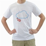 Cloud Print Shirt - Men s T-Shirt (White)