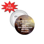 Jesus Overcome words - 1.75  Button (10 pack)