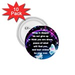 Adversity Peace button - 1.75  Button (10 pack)