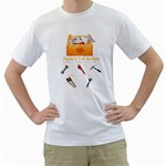 Peewee T shirt fathers day - Men s T-Shirt (White)