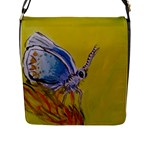 Butterfly hand bag - Flap Closure Messenger Bag (L)
