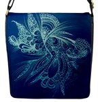 Blue abstract bag - Flap Closure Messenger Bag (S)