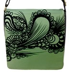 Green abstract bag - Removable Flap Cover (S)